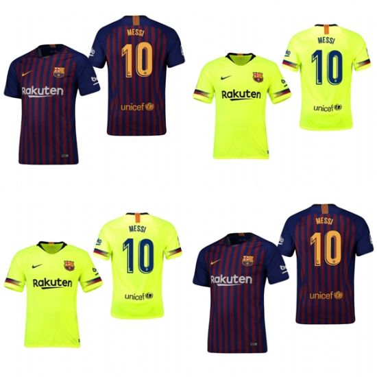 buy popular fb146 b8801 Barcelona 10 Lionel Messi Home Away Football Shirts Soccer Jerseys