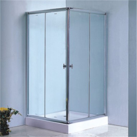Chromed Bathroom Square Sliding Shower Enclosure Glass Room Price