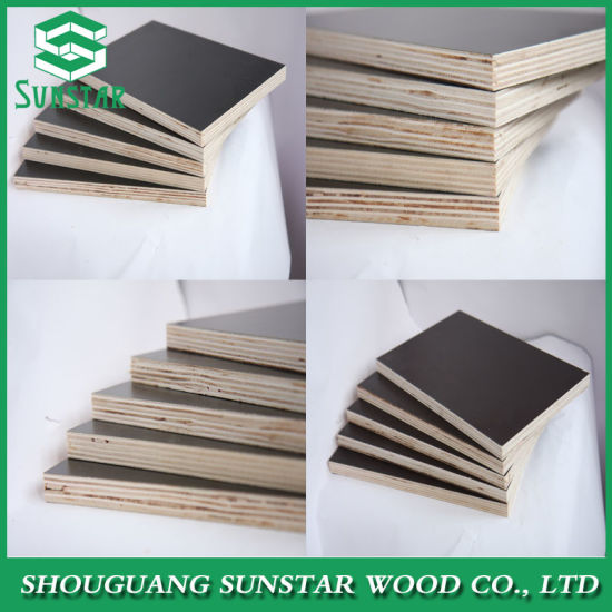 Ffp Poplar/Hardwood/Finger Joint/Bamboo Black/Brown/Red/Green/Anti-Slip/Waterproof Film Faced Marine Plywood Board