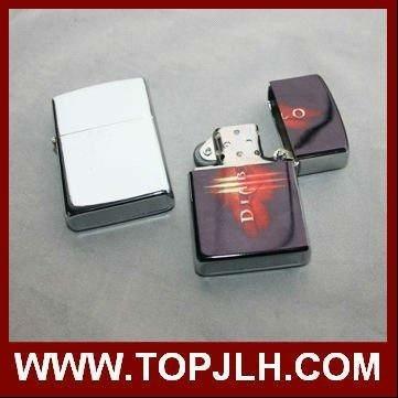 Custom Logo Classic Oil Refill Lighter Sublimation Metal Lighter