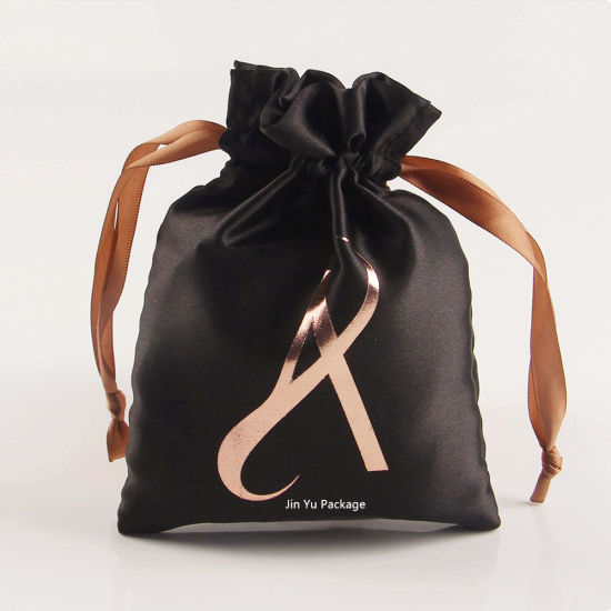 Custom Black Stain Drawstrings Jewelry Gift Packaging Pouch Bag Wholesale