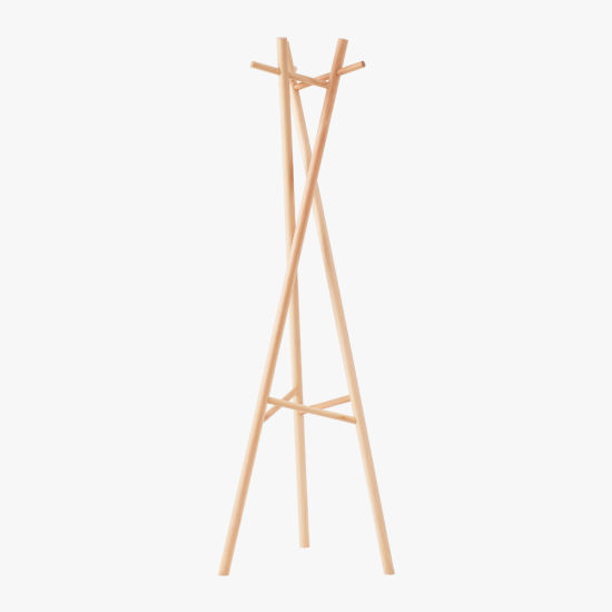 Beech Coated Portable Wooden Cloth Coat Clothes Rack pictures & photos
