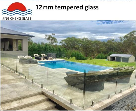 12mm Tempered Clear Glass for Various Buildings