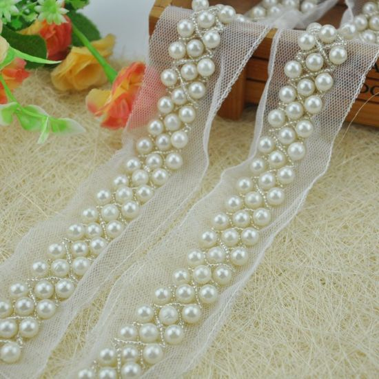 Pearl Beaded Trimming for Garments
