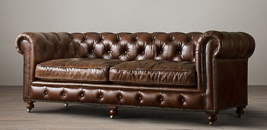 Chesterfield 3 Seater Sofa, Classic Italian Leather Sofa Td 01 3