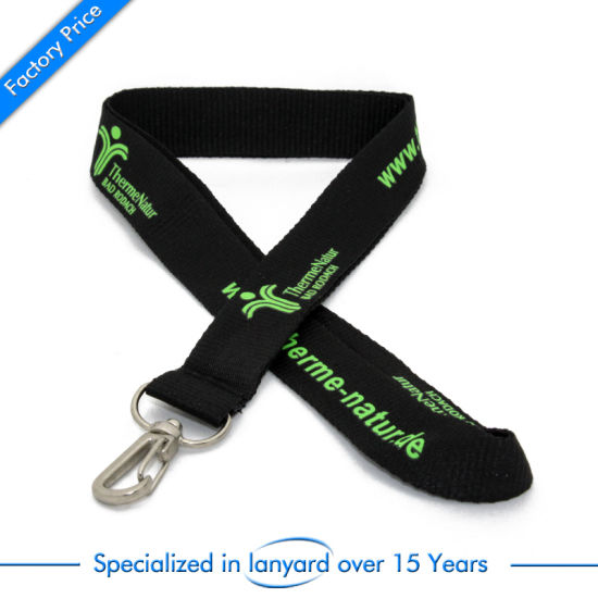 Flat Polyester Printed Lanyard for Publicity Charms Clasp Dubai Hardware pictures & photos