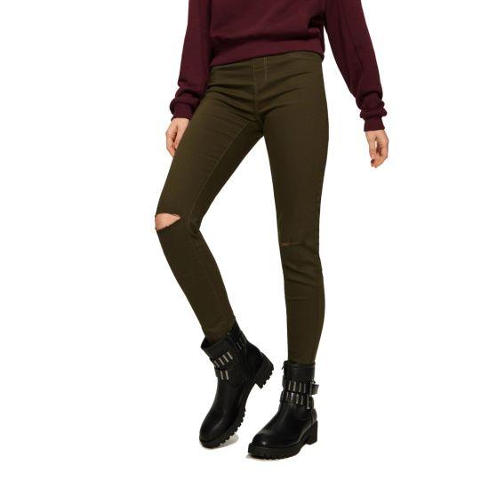 Fashion Street Wear Women's Ripped Slim Trousers