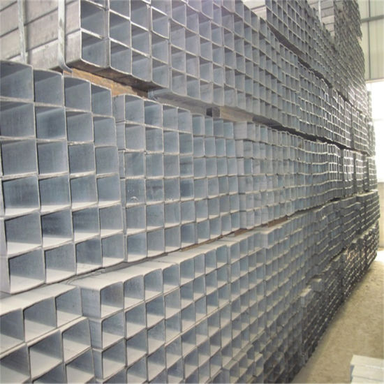 PVC Plastic Package Welded Rectangular / Square Steel Pipe / Tube