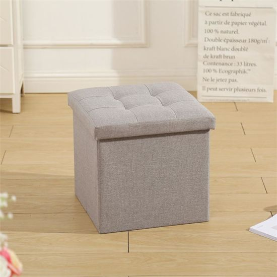 Large Capacity Storage Stool Simple Fabric Can Sit Box Nordic Living Room Bedroom Study Bench Multi Function Home Small Seat