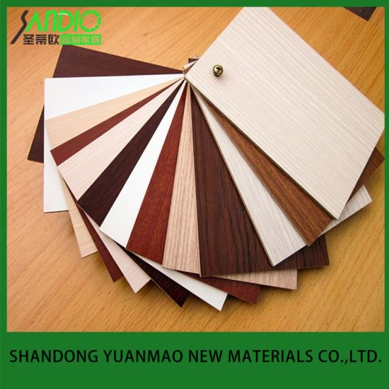 1220*2440mm Fireproof Melamine MDF Faced Board with Different Colors for Furniture/Decoration/Building Material
