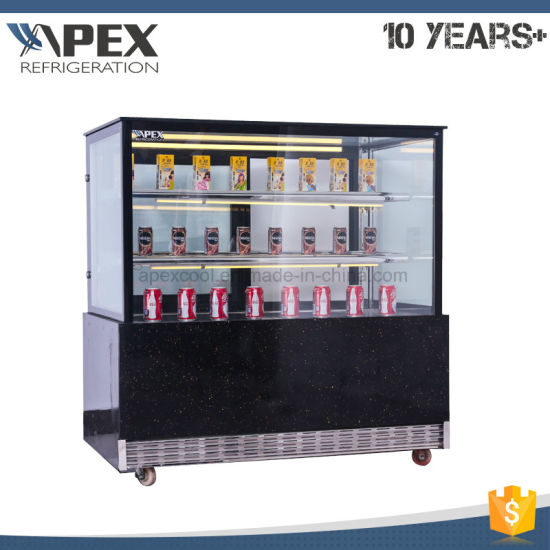 China Cake Showcase With Right Angle Glass Door For Cake Snack