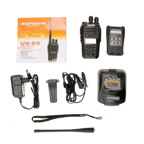 Bf-UVB5 Baofeng UV-B5 Walkie Talkie 5watts 99 Channels FM Portable Two-Way PMR Radio UV B5 pictures & photos