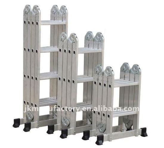 Aluminum Multi-Functional Ladder with 12 Steps pictures & photos