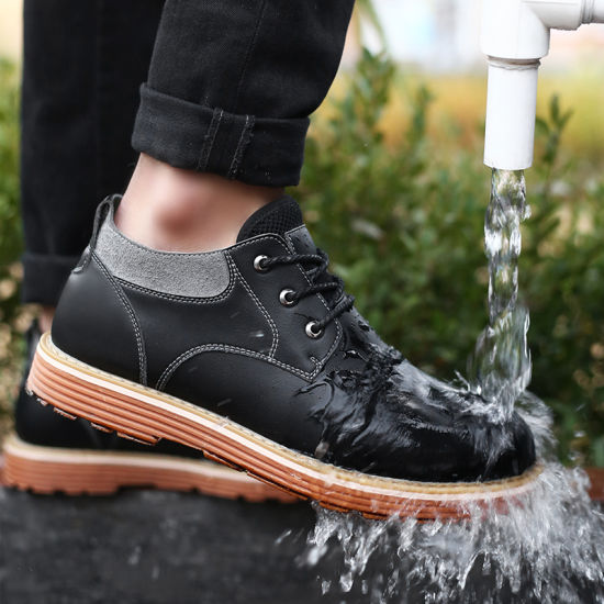 Fashion Waterproof Wear Resistance Mens Business Safety Shoes