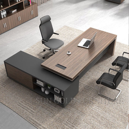 China Modern High Quality Wooden Luxury Bureau Office Table