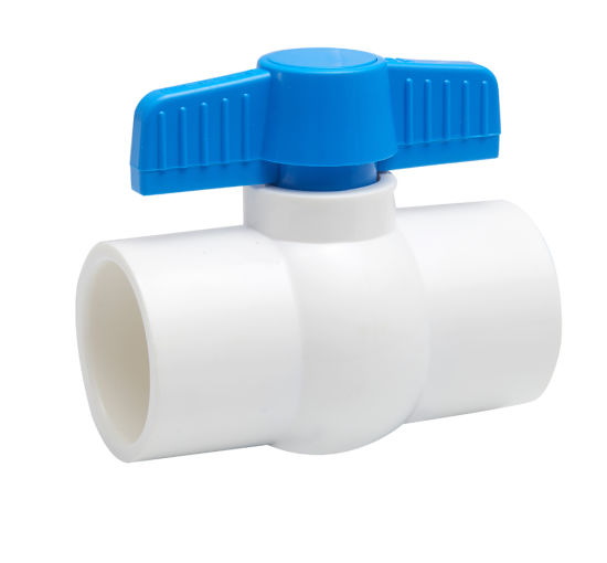 Plastic PVC Compact Ball Valve for Water Supply with ISO9001: 2008
