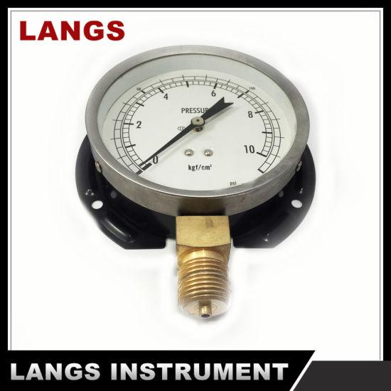 028 100mm Standard Dry Pressure Gauge with Flange