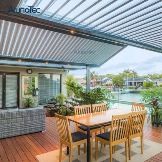 Opening Roof System Pergola Shade Roof Garden Patio Louvers