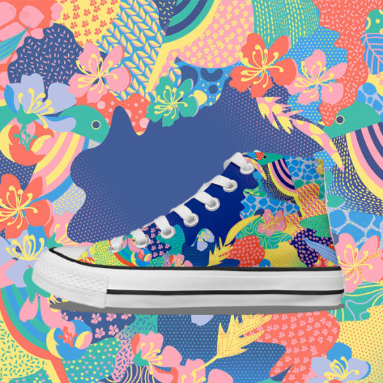 China High Top Ladies Canvas Shoes for
