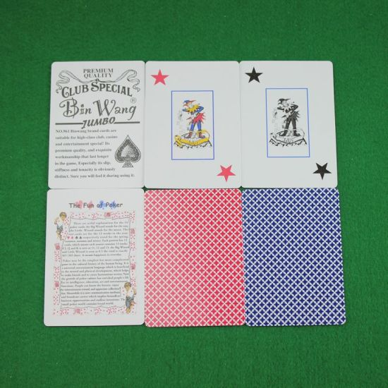 Casino Quality Jumbo Index Poker Playing Cards (NO. 961) pictures & photos