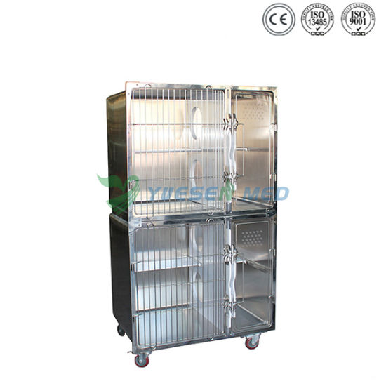 Cheapest Stainless Steel Mobile Animal Cage Low Price Dog Crate pictures & photos