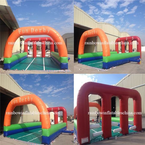 China New Inflatable Kids Outdoor Race Horse Games