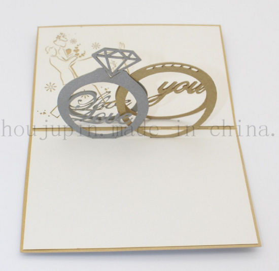 Custom 3D Paper Valentine Wedding Greeting Invitation Card for Souvenir pictures & photos