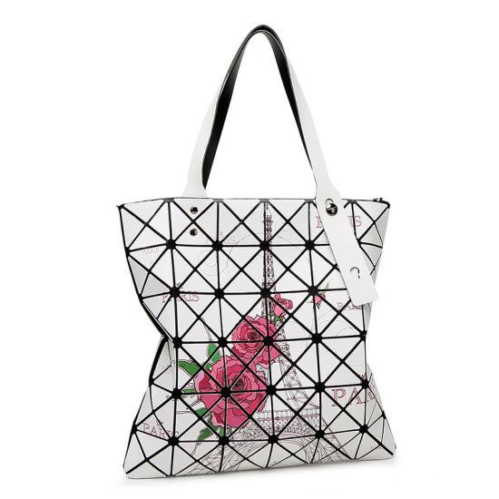 407a2044fc53 Japanese Dazzle Lattice Floral Handbag  Laser Hologram Shopping Bag  pictures   photos