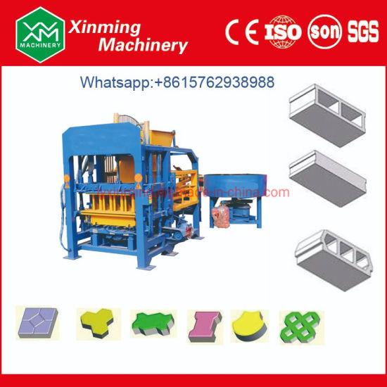 Qt4-18 Automatic Cement Solid Brick Making Machine Hydraulic Hollow Interlocking Block Making Machine in Africa