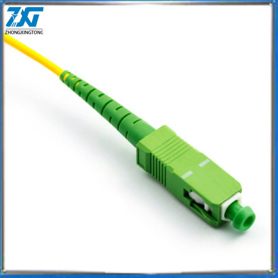 Sc APC to Sc APC Simplex 2.0mm 3.0mm PVC Single Mode Fiber Patch Cable Fibra Optica Jumper Fiber Patch