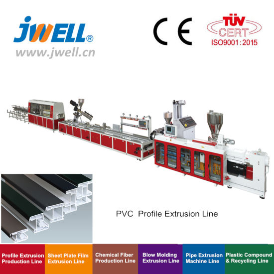 Jwell Plastic Recycling Mpp/PPR/PVC/PE/PP Window Door Frames/ Ceiling Board/ Wallboard /Pipe/ Profile Plastic Machine /Recycling Machine/Machine