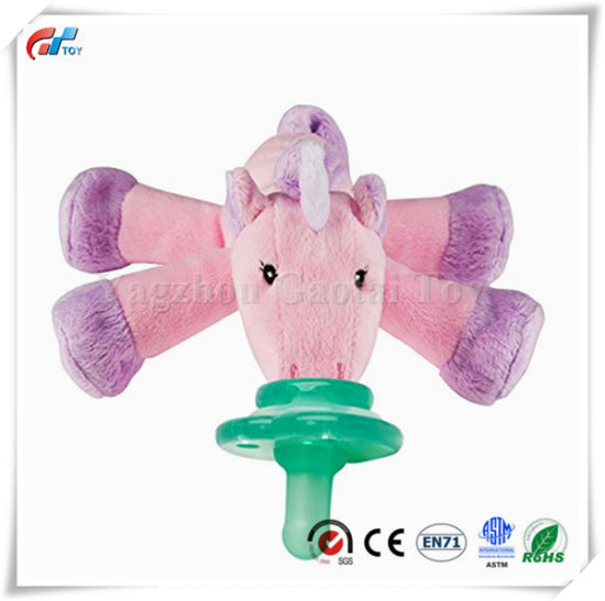 Plushies Unicorn Shakies Pacifier Holder Soft Baby Toy