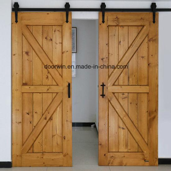 China Japanese America Design Wood Barn Door Interior Sliding Door