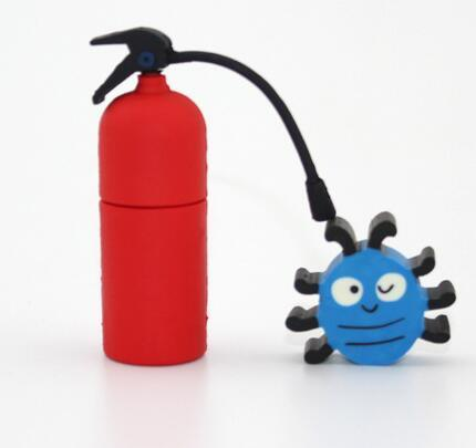 Creative Fire Extinguisher USB Flash Drive Customized PVC Pen Drive (EP285) pictures & photos
