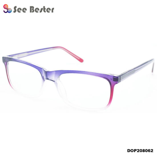 China Suppliers Cp Injection Plastic Unisex Optical Eyewear Glasses Frames with Progressive Color