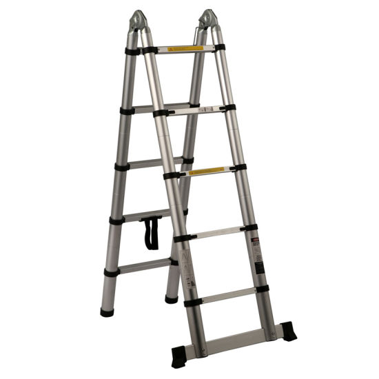 Economical 2 Section Hinged Telescopic Ladder With En131 Certificate