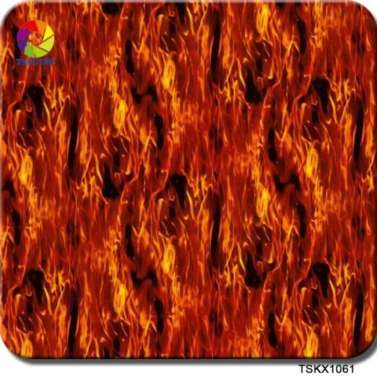 China Tsautop 0 5m Width Flaming Hydro Dipping Patterns for