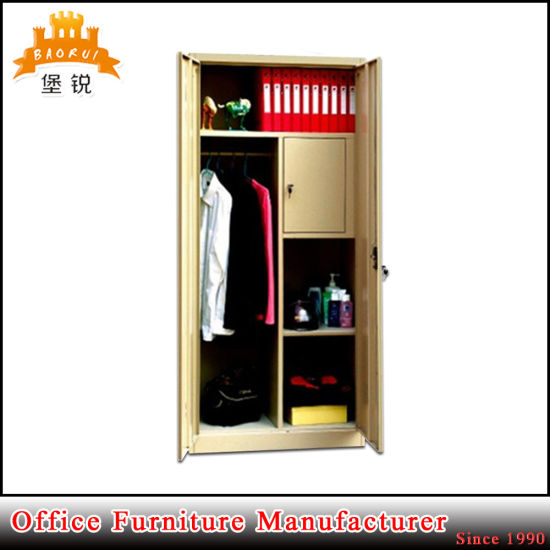 Fas-005 2 Door Clothes Metal Storage Dressing Cupboard Steel Almirah pictures & photos