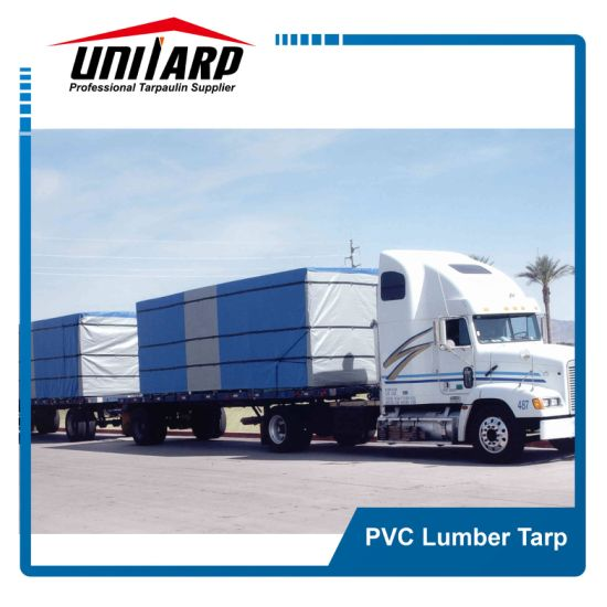 18oz Vinyl Tarp, PVC Lumber Tarp, D-Ring Truck Cover