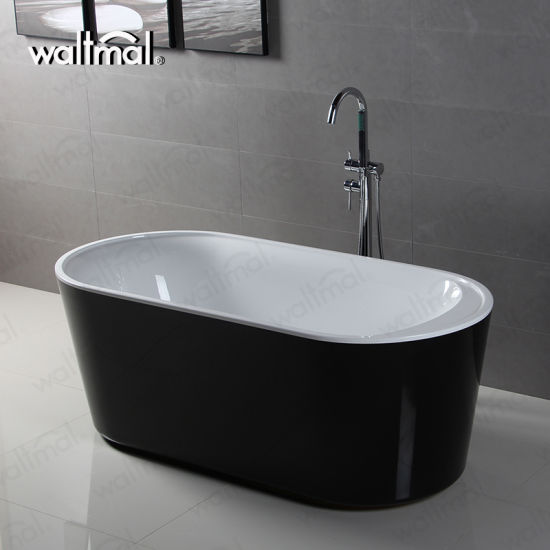 china windsor imperial black 1590 x 750mm double ended freestanding