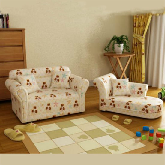 Fashion House Bedroom Cartoon Children Furniture/Kids Leather Sofa Set  (SXBB 48 10)
