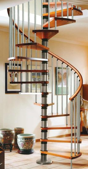 Indoor Custom Stainless Steel Glass Spiral Staircase