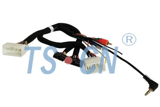 china t harness hyundai 2rca 3 5mm car audio harness customized rh china tscn en made in china com