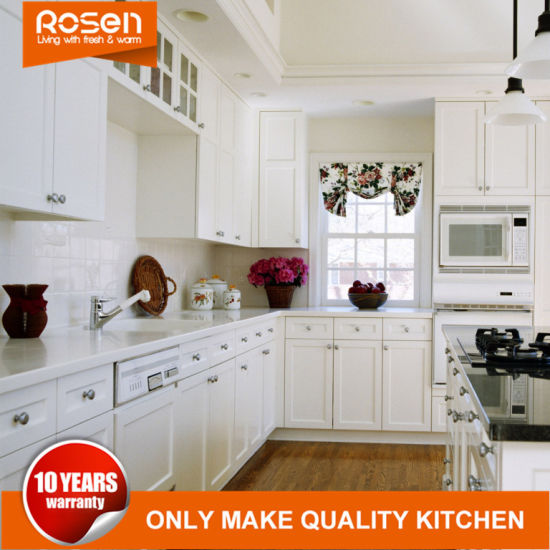 China White Best Quality Spray Lacquer Fininsh Kitchen Cabinets