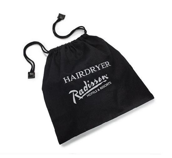 Hotel Velvet Hair Dryer Bag With Logo