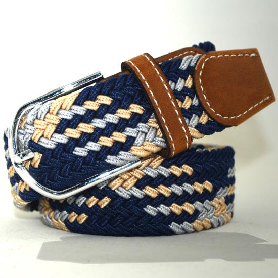 W31 Custom Make Ecological Cotton Braided Elastic Rope Belt for Men