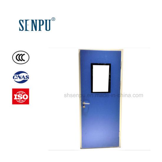Hospital Use Steel Clean Door with Vision Panel Steel Door