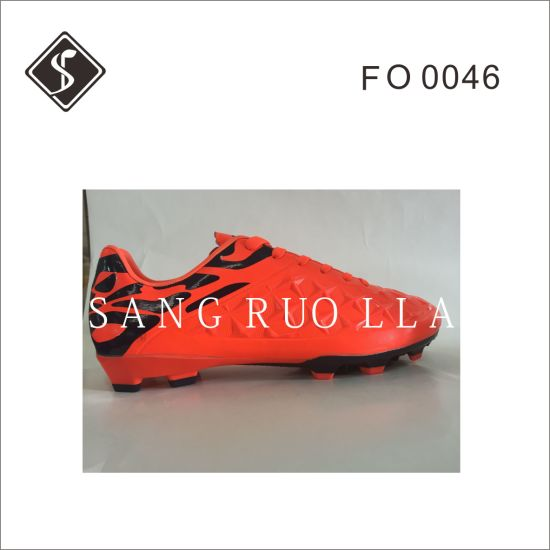 Hot Sale Green Outdoor Soccer Shoes pictures & photos