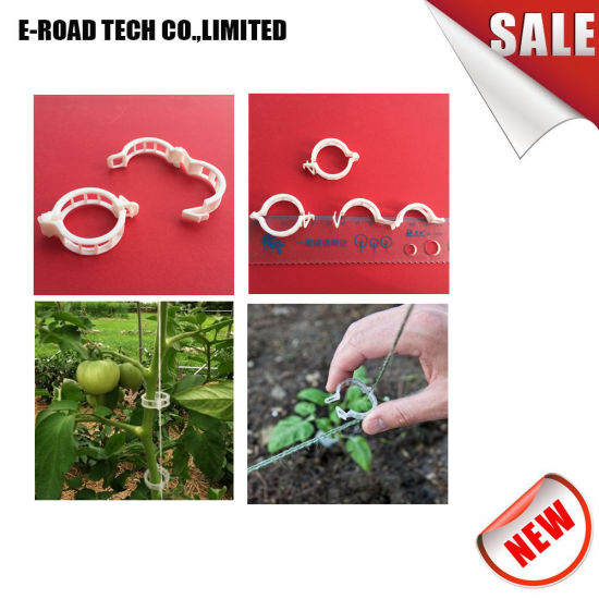 Plant Support Garden Clips For Vine Vegetables, Tomato Trellis Clips, Makes  Garden Vegetables To Grow Upright And Healthier, White
