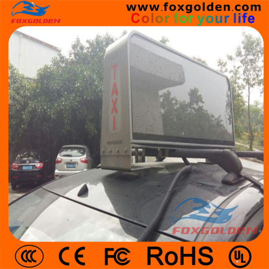 Full Color P5 Taxi LED Display with 3G Controller